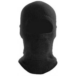 Capuz Ninja Tricotado em Lã Acrilica Preto