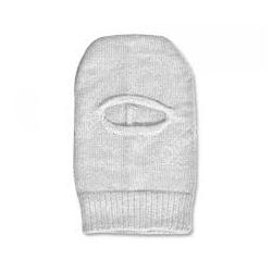 Capuz Ninja Tricotado em Lã Acrilica Branco
