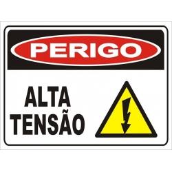 Placa - Perigo Alta Tensão