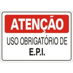 Placa - Uso Obrigatório de E.P.I